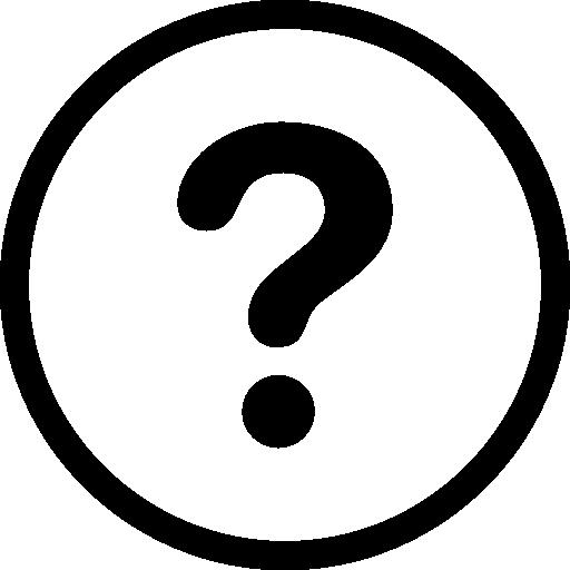 signo de pregunta en círculos  icono gratis
