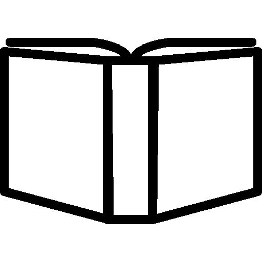 variante de contour de livre ouvert à l'intérieur d'un cercle  Icône gratuit