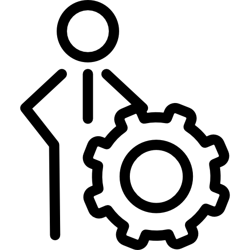 configuración de persona símbolo de esquema de seo para interfaz  icono gratis