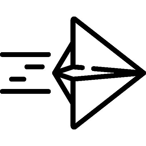 avion en papier  Icône gratuit