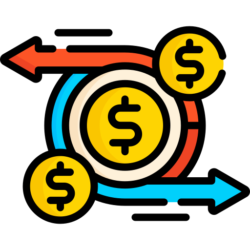 Cash flow  free icon