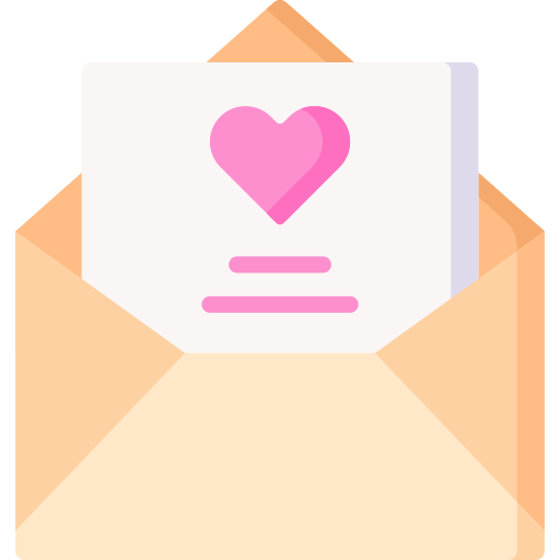 Love letter  free icon