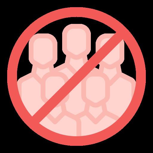 evite las multitudes  icono gratis