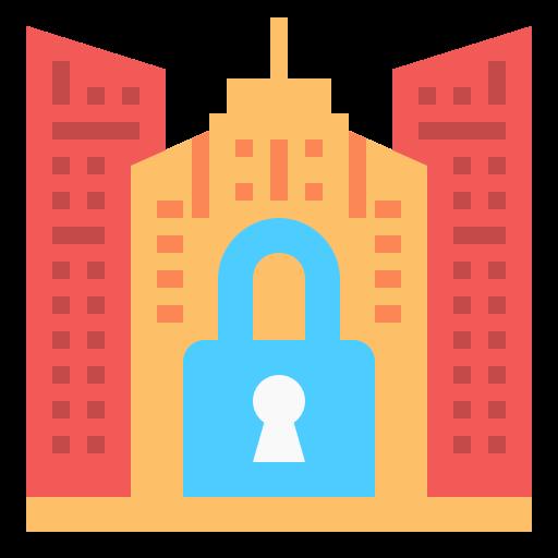 cierre de emergencia  icono gratis
