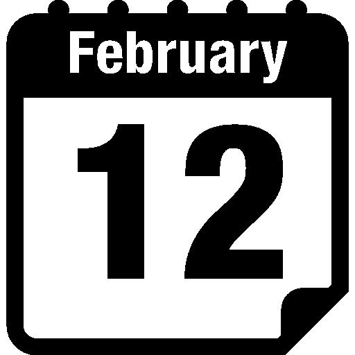 12 февраля страница календаря  бесплатно иконка