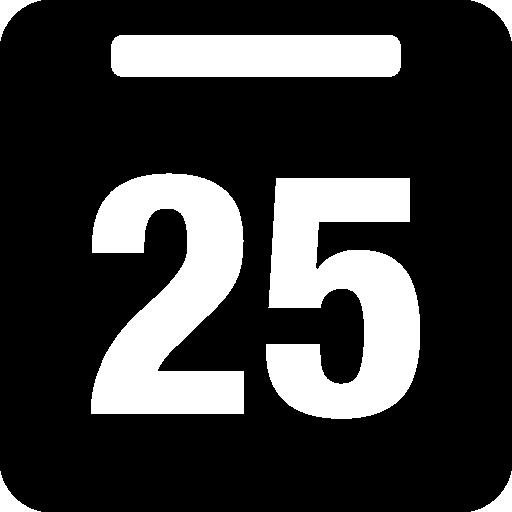День 25 в ежедневном календаре  бесплатно иконка