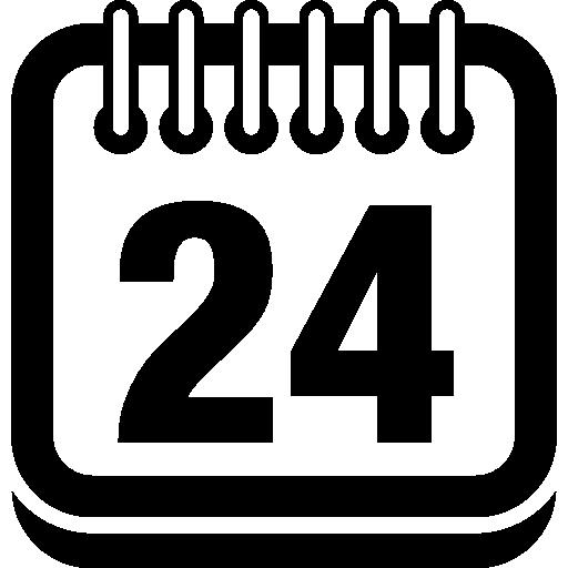 Страница календаря на 24 день  бесплатно иконка