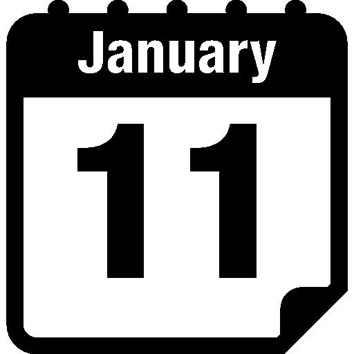 page de calendrier quotidien le 11 janvier  Icône gratuit