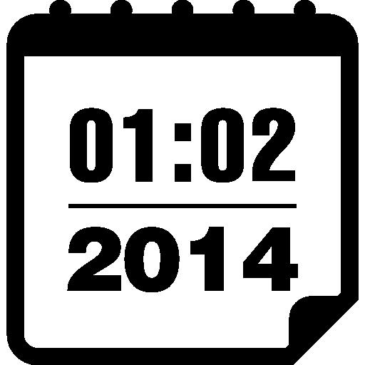 page de calendrier de février 2014  Icône gratuit