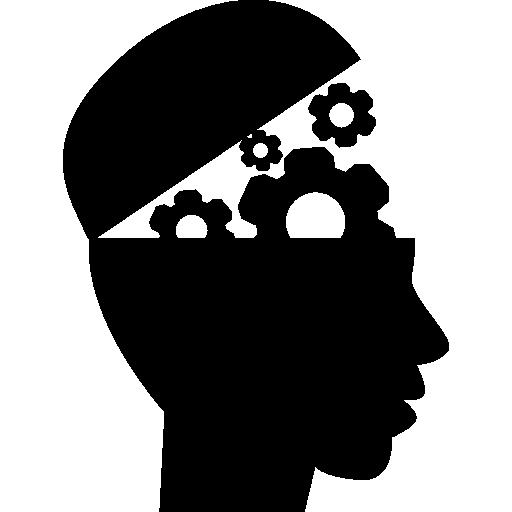 기어 교육 인터페이스 기호 머리  무료 아이콘
