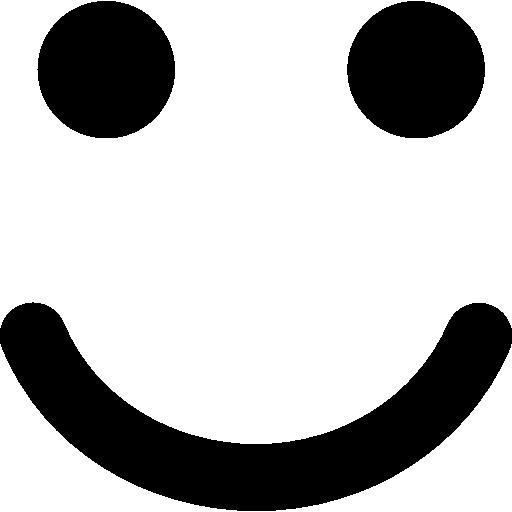 Smiling emoticon square face  free icon