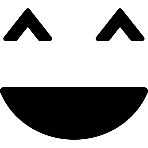 Smiley square face  free icon