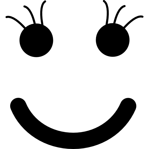 Smiley of square face shape  free icon
