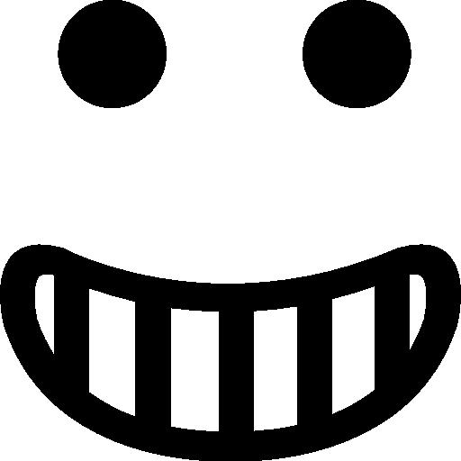 Happy smiling emoticon square face  free icon