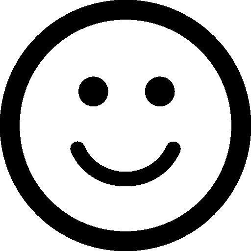 rosto quadrado de emoticon sorridente  grátis ícone