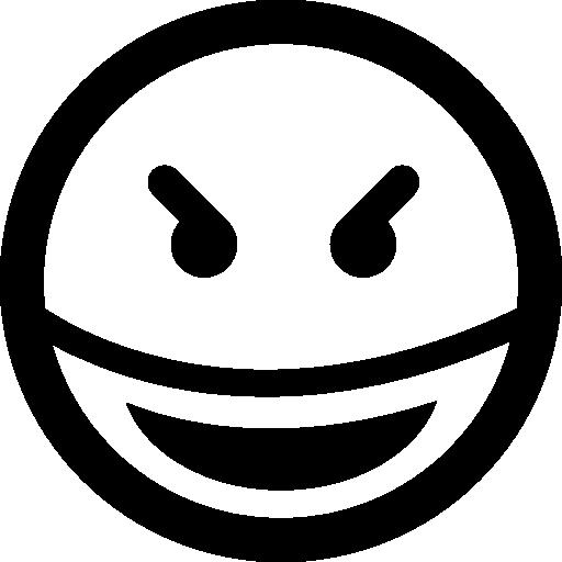 사악한 미소 광장 이모티콘 얼굴  무료 아이콘