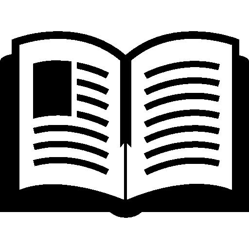 Учебник открыт сверху  бесплатно иконка
