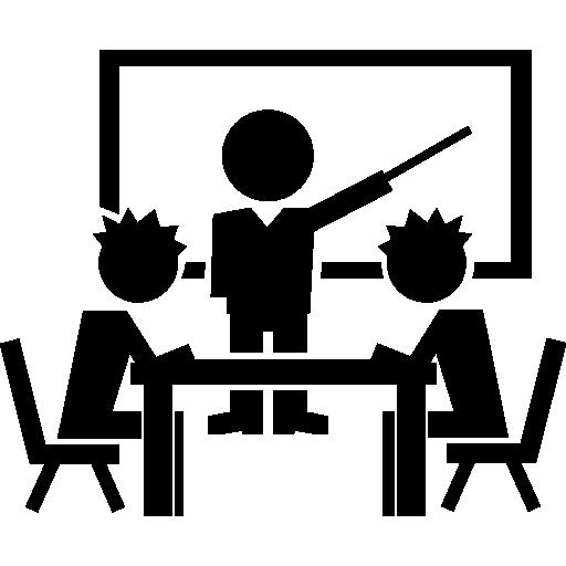 수업 중 학생  무료 아이콘