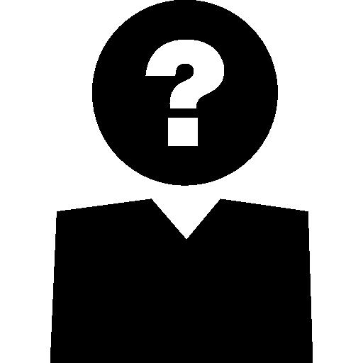 사람 머리에 질문 기호  무료 아이콘