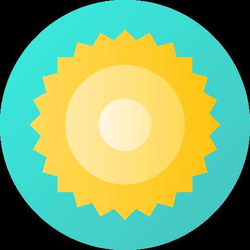 brillo solar  icono gratis