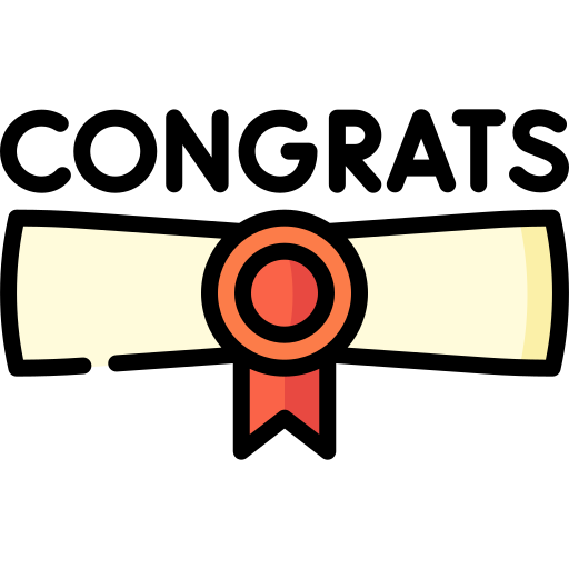 Congrats  free icon