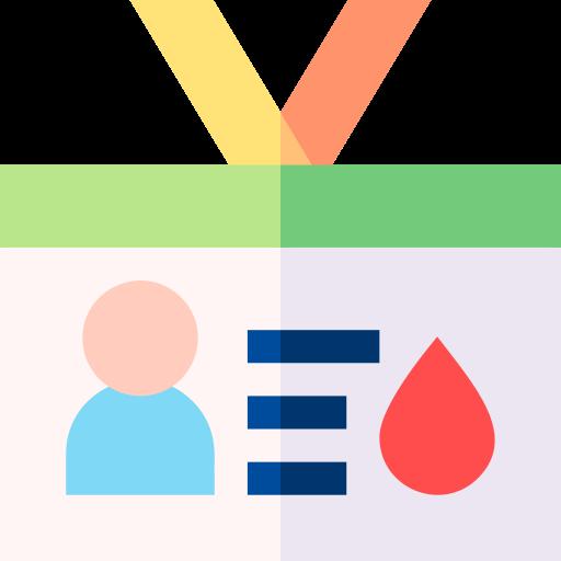 cartão de doador de sangue  grátis ícone