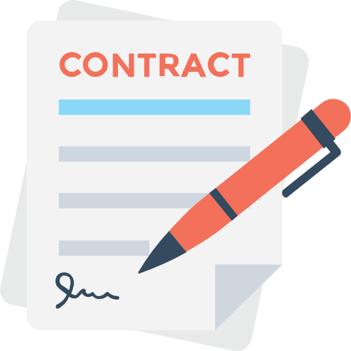 Contract  free icon