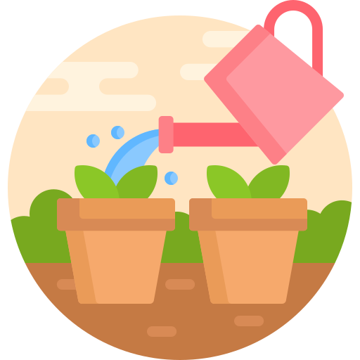 Watering plants  free icon
