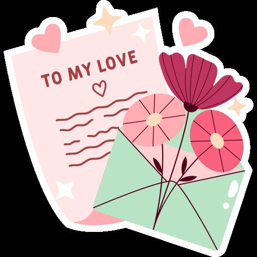 carta de amor  grátis figurinha
