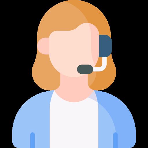 Customer service agent  free icon