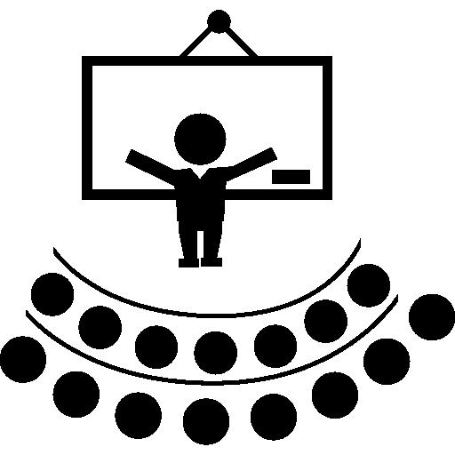 청각 앞에서 교사 강의  무료 아이콘