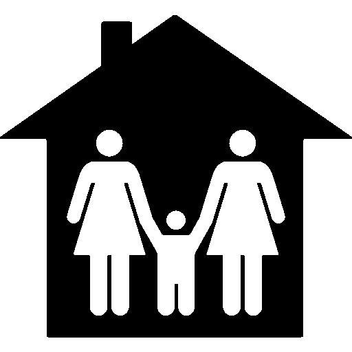 familie zu hause  kostenlos Icon