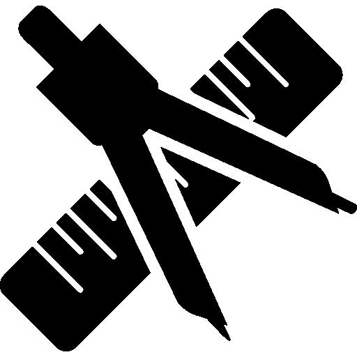 Компас и линейка по математике  бесплатно иконка
