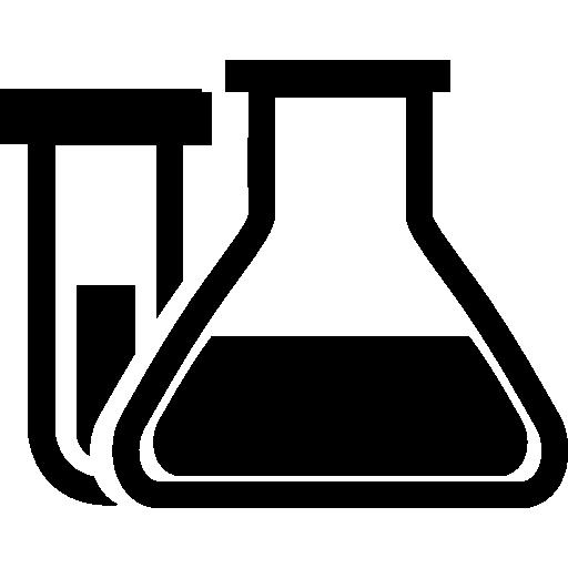 화학 클래스 용 테스트 튜브 및 플라스크  무료 아이콘