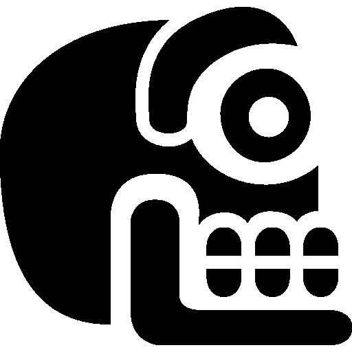 crânio de pedra de antigas culturas do méxico  grátis ícone