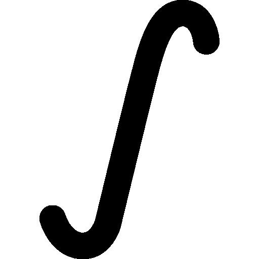 Интегральный математический знак  бесплатно иконка