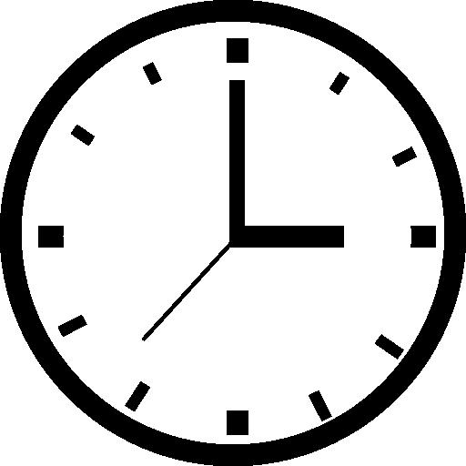 원형 시계 도구  무료 아이콘