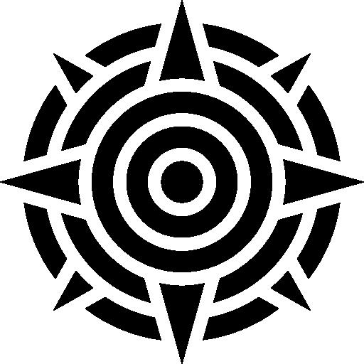 sol quente e brilhante forma do símbolo do méxico  grátis ícone