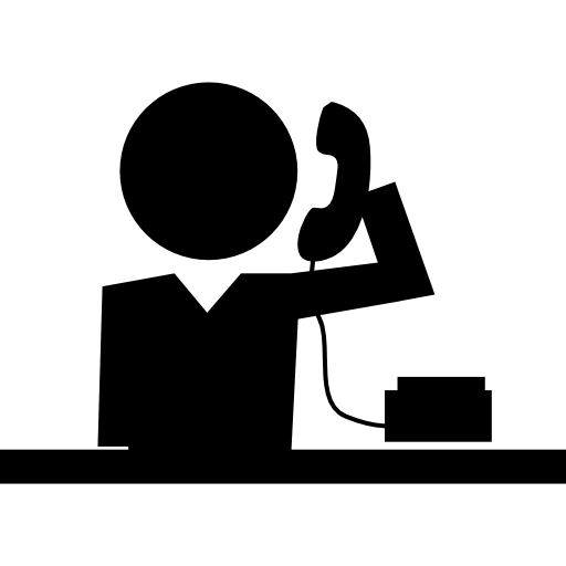 학교 전화 수신  무료 아이콘