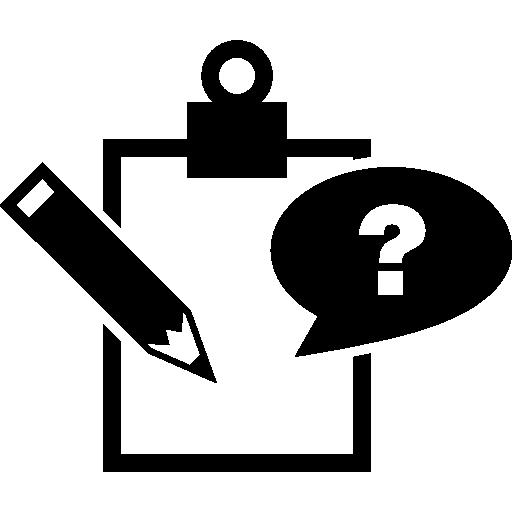 질문 클래스 메모 기호  무료 아이콘