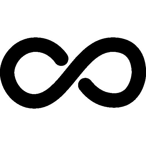 Бесконечный математический символ  бесплатно иконка