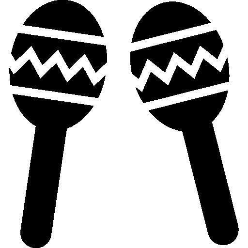 casal de maracas de instrumento musical do méxico  grátis ícone