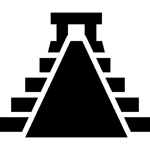 forma de pirâmide do méxico antigo  grátis ícone