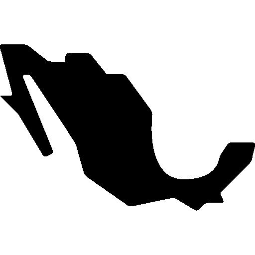 república mexicana mapa forma negra  icono gratis