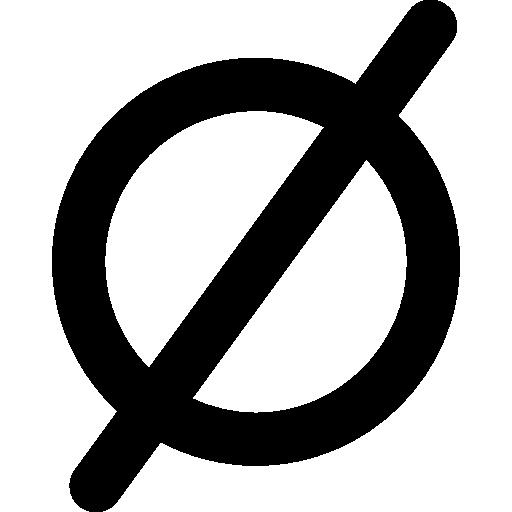 Пустой набор математических символов  бесплатно иконка
