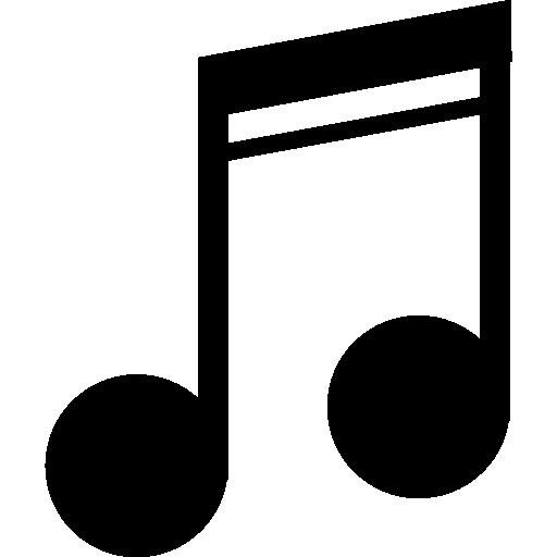 Символ музыкальной ноты  бесплатно иконка