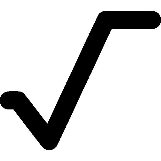 Математический символ квадратный корень  бесплатно иконка