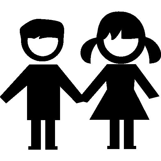 couple d'enfants  Icône gratuit
