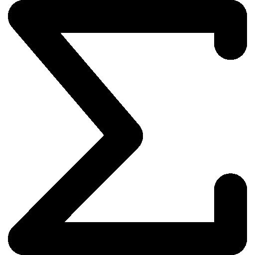Сумма математического символа  бесплатно иконка
