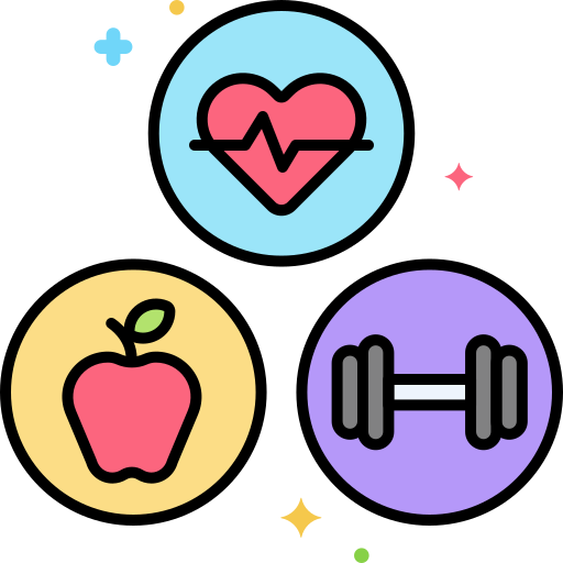 estilo de vida saludable  icono gratis